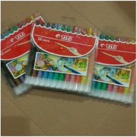 Crayon Putar Titi 12 Warna Pendek ( Mini )