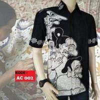 Kemeja Hem Baju Batik Pria Wayang Kulit Asli Pekalongan Aconituma