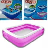 Kolam Renang Anak Polos Besar Kisubo KSB200 warna biru / pink uk 2m