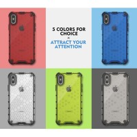 iPhone XR Honeycomb Hybrid Rugged Clear Armor Case Tough Shockproof