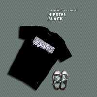 HIPSTER T-Shirt Kaos Hipster Black