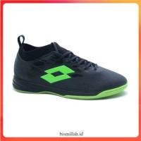Sepatu futsal lotto veloce in hitam hijau