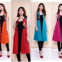 Gritten 75rbx4pc Blazer Batik Fashion Pakaian Wanita Grosir 519 BJZ