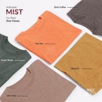 Kaos Polos Misty 100% Cotton Twotone Premium 30s Pria Wanita - M, Red Heart