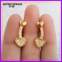 ANTING XUPING ANTING DEWASA JALAR LOVE PERMATA LAPIS EMAS GOLD D168