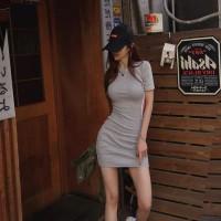 Korean Bodycon Dress 1067 Fashion Busana Dress Sexy Wanita