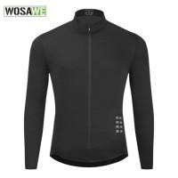 Baju Jersey Sepeda Pria WOSAWE Lengan Panjang Bahan Adem