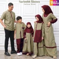Baju Muslim Nibras Family Bianca Gold Sarimbit Keluarga Setelan Couple
