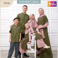 Baju Muslim Nibras Family Carina Army Sarimbit Keluarga Couple Terbaru