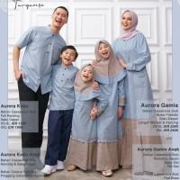 Baju Muslim Aurora Biru Turkish Nibras Family Sarimbit Keluarga 2021