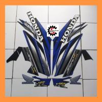 stiker/striping motor Honda supra X 125 r. 2006, Biru - hitam