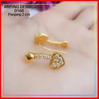 Anting Xuping Anting Jalar Love Permata D168 Lapis Emas Gold