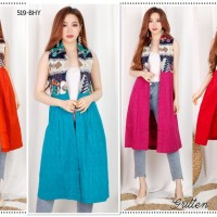 Gritten 75rbx4pc Blazer Batik Fashion Pakaian Wanita Grosir 519 BHY