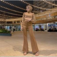 baju wanita Knit Polka Tops blouse Import bahan rajut