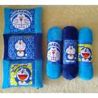 Bantal Guling Doraemon, print Doraemon 1 set =1bantal 1guling