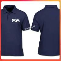 Polo Shirt Kaos Kerah NET 86 Polisi Kaos Pria Kaos Distro
