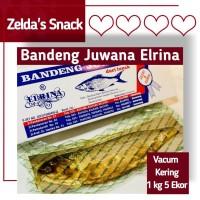 Bandeng Presto Juwana Elrina Semarang Vacuum Kering 1 kg isi 5 ekor