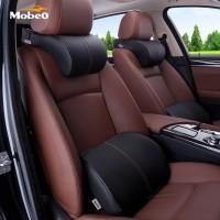 PROMO Mobeo Bantal Mobil Penyangga Punggung Leher Kulit Premium Car