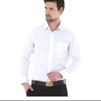 Promo Kemaja Pria Putih Polos Lengan Panjang / Seragam Baju Lapangan
