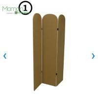 Pembatas Ruangan/Sekat Ruangan/Panel 3 Lipat 180x120x2.5 cm Kayu