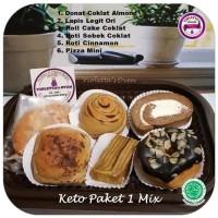 Keto Paket 1 Mix Donat Roll Cake & Lapis Legit Ready Stock