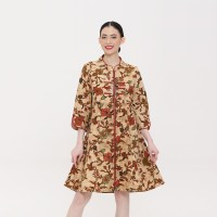 Noele Tulis D0240, Baju Dress batik wanita modern - L