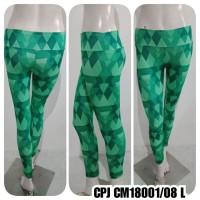 Baju Senam Celana legging motif hijau fuji