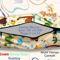 NEW CUSTOM UKURAN Sarung Kasur Busa Resleting | LEBAR 150 s/d 200