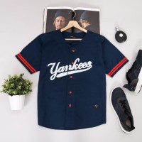 Premium Baju baseball cowok pria kekinian