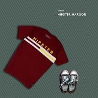 HIPSTER T-Shirt Kaos Stripe Maroon