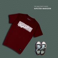 HIPSTER T-Shirt Kaos Hipster Maroon