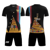 Kaos Baju Jersey Futsal Bola Setelan Celana Motif Batik REI02 Dry Fit