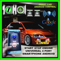 Remot mobil dengan smartphone android. keyless. start stop engine.