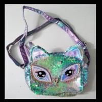 Tas Selempang Sequin Blink Anak Colorful Blink Light Owl (ZH-AC040) -