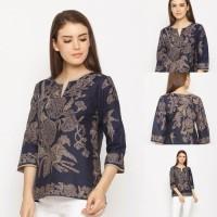 Vico Encim T0104, Baju Atasan Batik Wanita Modern Nona Rara - S