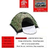 Tenda Camping outdoor army Loreng capasitas 3 Orang buka otomatis 013