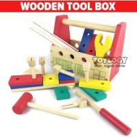 Mainan Kayu Perkakas Alat Tukang Wooden Creative Toolbox Palu Sekrup