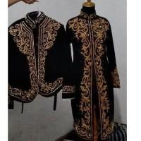 TERBARU couple baju pengantin adat jawa bahan bludru full Payet