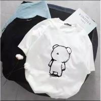 Oversize Berbo Fashion Wanita Baju Kaos Atasan Cute Teddy Bear