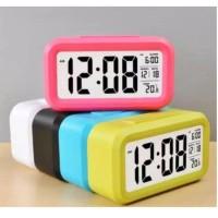 Jam Weker Digital Jam Meja LED Digital Clock Digital Smart Alarm Kotak
