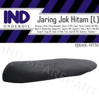 Jaring-Sarung Jok Hitam L Anti Panas Supra x 125/Vega ZR/Blade/Scorpio