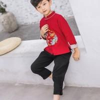 Jual Baju Anak Imlek Cowo / Beli Baju Cheongsam Xipao Anak laki laki