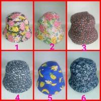 topi bucket baket motif corak