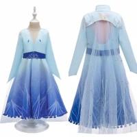 Baju elsa cape coat Frozen 2 READY STOCK sz 4-14 thn princess