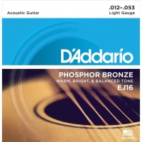 Daddario EJ16 Phosphor Bronze 012 Senar Akustik D'addario Original USA