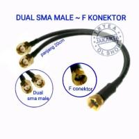 PIGTAIL RG6 F konektor DUAL SMA MALE B310 B315