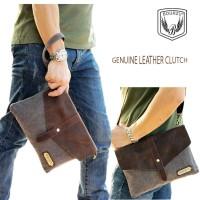 clutch hand bag handbag selempang pria kulit asli kanvas - MODEL EROPA