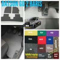 Karpet mie premium mobil Datsun Go 2 Baris ~ 1 warna