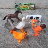 Mainan Set Animal Unggas & Hewan Ternak Karet - Binatang Anak Edukasi