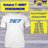 Baju Kaos T-Shirt Penerbangan Pesawat BOEING 767 Aviation Aviasi